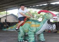 Coin Operated Walking Dinosaur Rides Waterproof For Kids Amusement Park