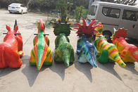 Coin Operated Dinosaur Battery Car Walking Simulation Ride For Amusement Park