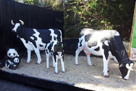Outdoor Decoration Animatronic Animals , Electric Life Size Cow